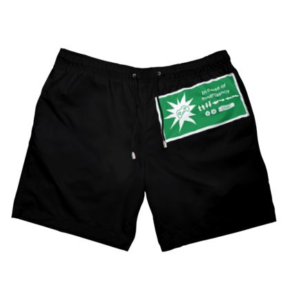 Mens Swimming Shorts - In Case of Emergency - Use Cheat Code