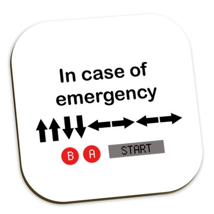 Coasters - In Case of Emergency - Use Cheat Code 2 (Black Text)