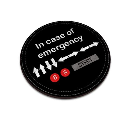 Leather Coasters - In Case of Emergency - Use Cheat Code 2