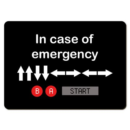 Large Placemats - In Case of Emergency - Use Cheat Code 2
