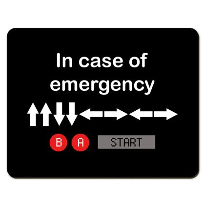 Placemats - In Case of Emergency - Use Cheat Code 2