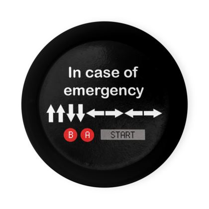 Round Coaster Trays - In Case of Emergency - Use Cheat Code 2