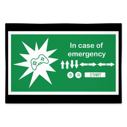 Fabric Placemats - In Case of Emergency - Use Cheat Code