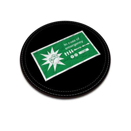 Leather Coasters - In Case of Emergency - Use Cheat Code