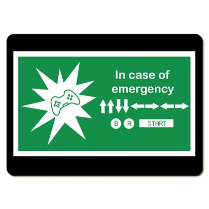 Large Placemats - In Case of Emergency - Use Cheat Code