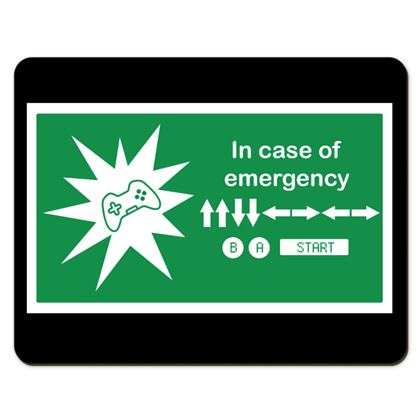 Placemats - In Case of Emergency - Use Cheat Code