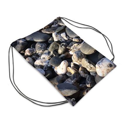 Pebbles on The beach Swim bag