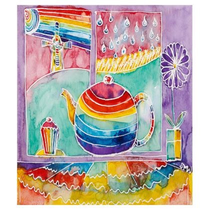 Rainbow Teapot large tray (43x33cm)