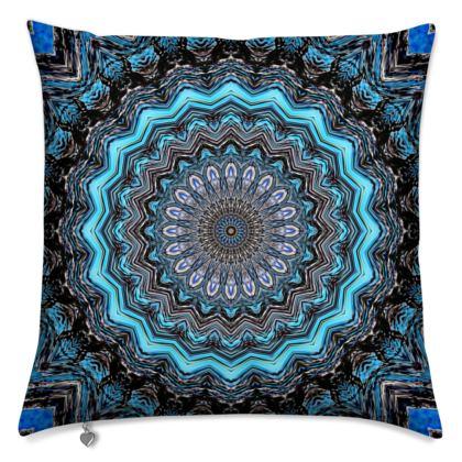 Blue Mandala Cushions