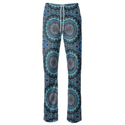 Blue Mandala Womens Trousers