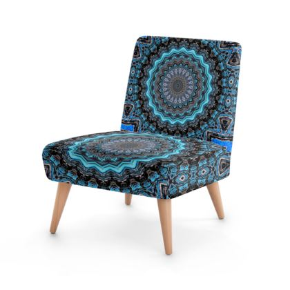Blue Mandala Occasional Chair