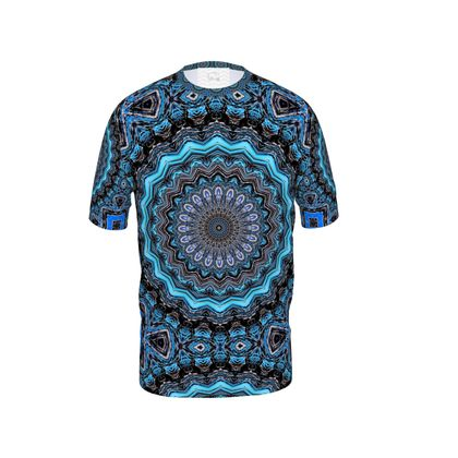 Blue Mandala Mens Cut And Sew T-Shirt