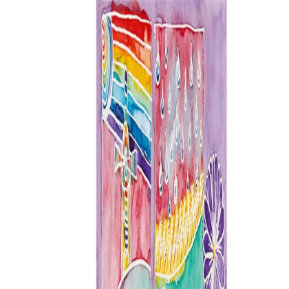 Rainbow Teapot long slim tray (43x13.5cm)