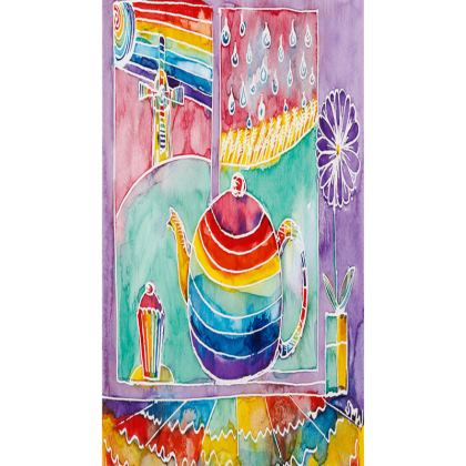Rainbow Teapot small tray (20x11.5cm)