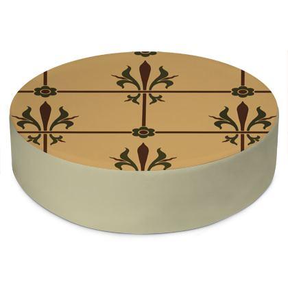 Round Floor Cushions - Insignia Pattern 1