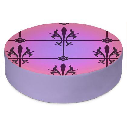 Round Floor Cushions - Insignia Pattern 2