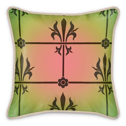 Silk Cushions - Insignia Pattern 3