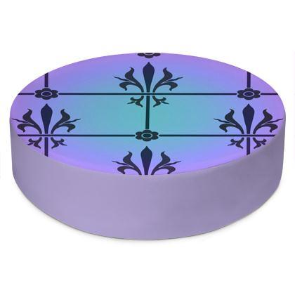 Round Floor Cushions - Insignia Pattern 4