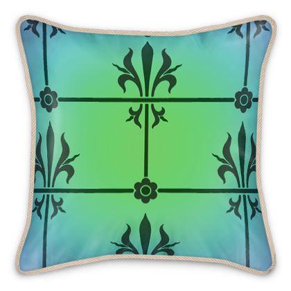 Silk Cushions - Insignia Pattern 5