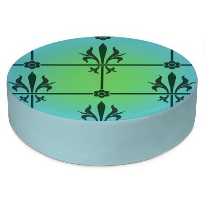 Round Floor Cushions - Insignia Pattern 5