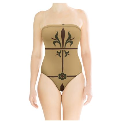 Strapless Swimsuit - Insignia Pattern 1