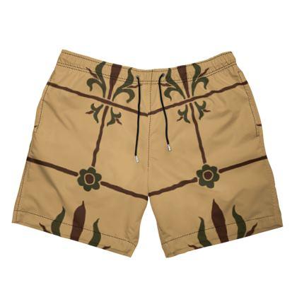 Mens Swimming Shorts - Insignia Pattern 1