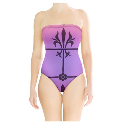 Strapless Swimsuit - Insignia Pattern 2