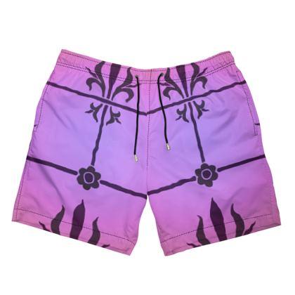 Mens Swimming Shorts - Insignia Pattern 2