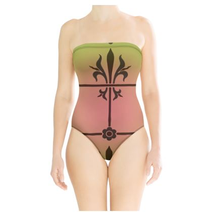 Strapless Swimsuit - Insignia Pattern 3