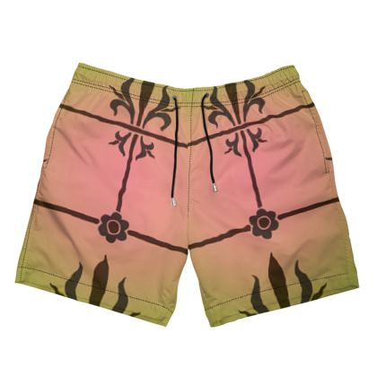 Mens Swimming Shorts - Insignia Pattern 3