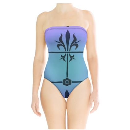 Strapless Swimsuit - Insignia Pattern 4