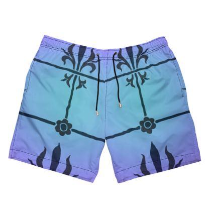 Mens Swimming Shorts - Insignia Pattern 4