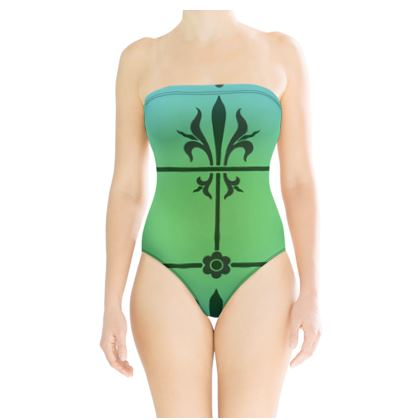 Strapless Swimsuit - Insignia Pattern 5