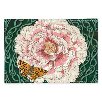 Peony and Butterfly Fabric Placemats