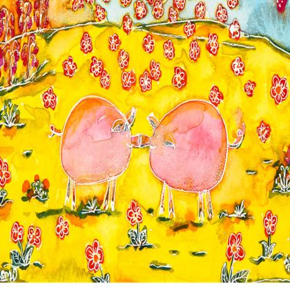 And the Sun Smiled Down large tray (43x33cm)