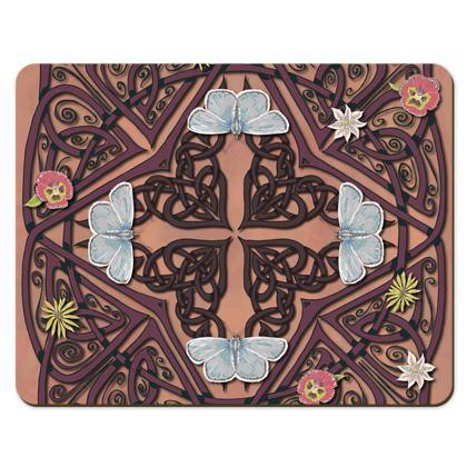 Celtic Cross Blue Butterflies Placemats