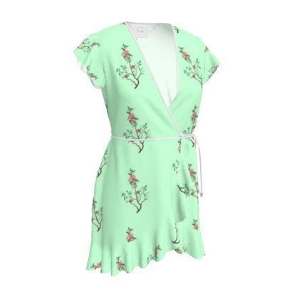 Tea Dress - Emmeline Anne Birds On a Branch Mint
