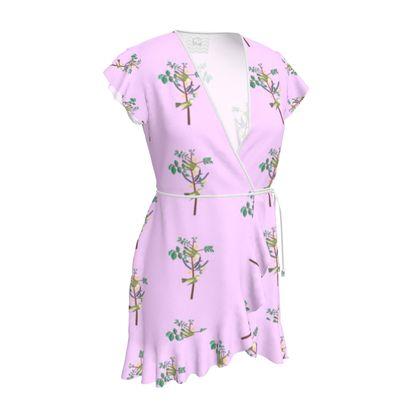 Tea Dress- Emmeline Anne Birds On a Branch Lilac