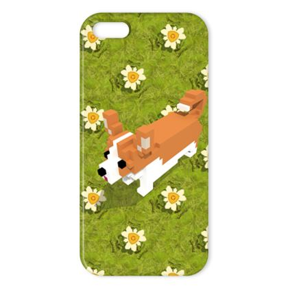 Voxel dog and the flowers iPhone Cases