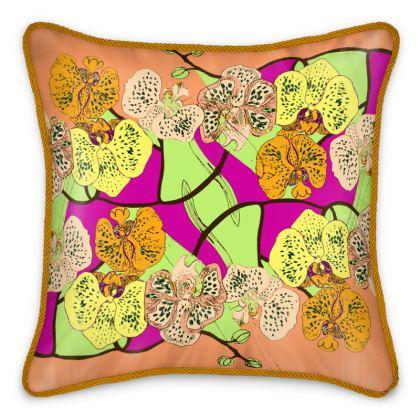 Phala Orchid Silk Cushions