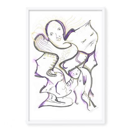 White Framed Giclee Print title: