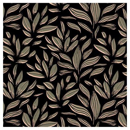 Khaki Floral Print Hard Glasses Case