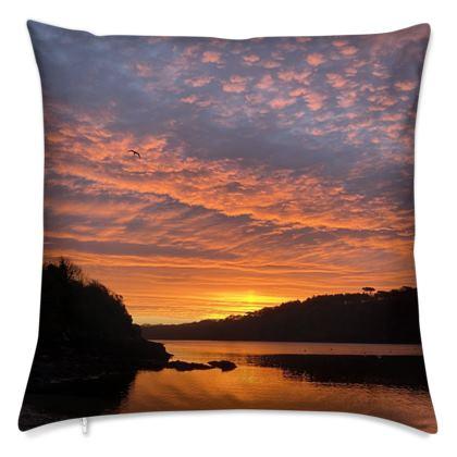Cushion - Ferry Boat Sunrise