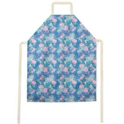 Aprons Blue, Pink, Floral  Fuchsias  Airforce