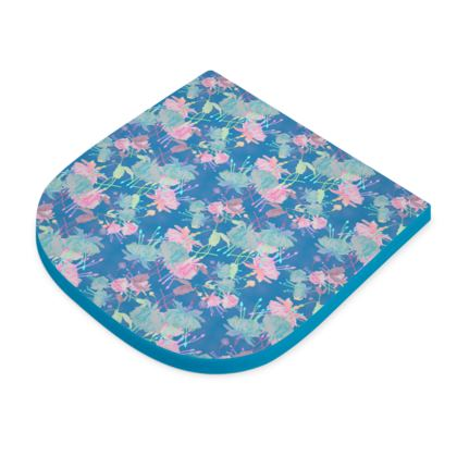 Seat Pad Blue, Pink, Floral  Fuchsias  Airforce