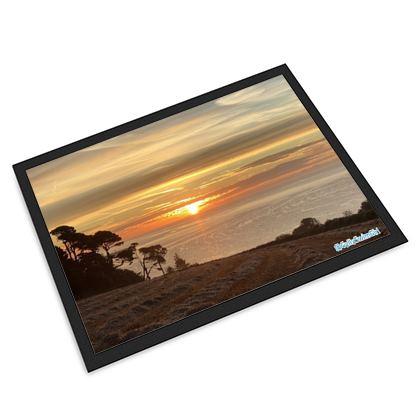 Large door mat - sunrise over falmouth bay