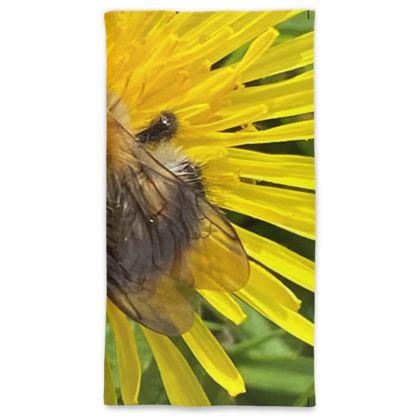Neck Gaiter - Bumblebee on the Dandelion