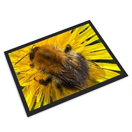 Large Door mat Bumblebee on the Dandelion