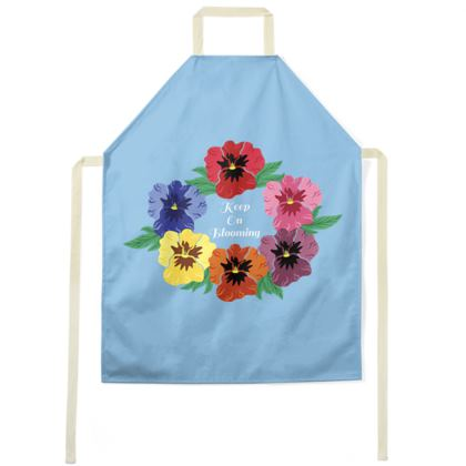 Keep On Blooming [Sky Blue] Apron