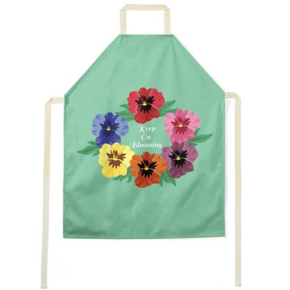Keep On Blooming [Light Mint] Apron